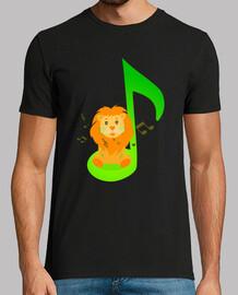 Leon con nota musical