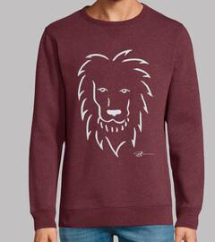 león en blanco