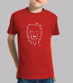 león en camiseta infantil blanca