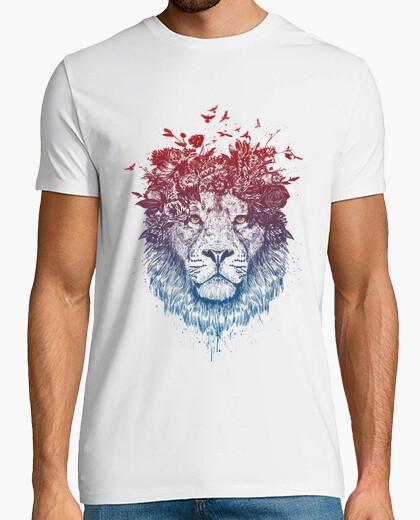Camiseta león floral iii