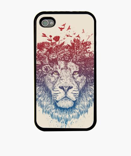 Funda iPhone león floral iii