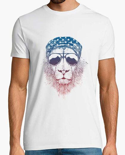 Camiseta león salvaje