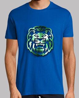 león verde metálico