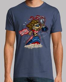 Leon y gabarra camiseta