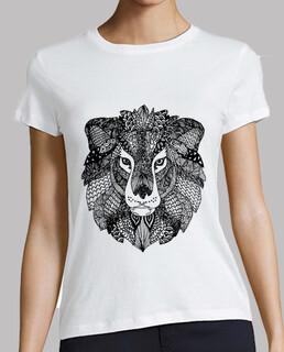 leon zentangle t-shirt femme