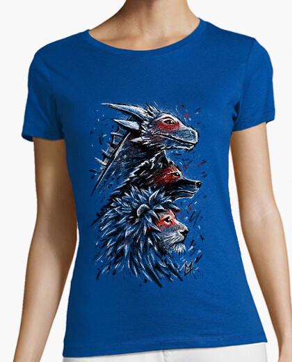 T-shirt leone di lupo drago