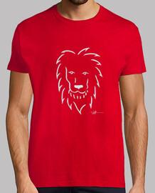 leone in maglietta uomo bianco
