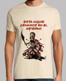 Leonidas Zombie Cenamos Infierno chico