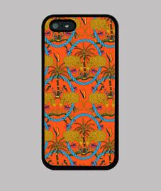 leopardos y palmeras caja del teléfono