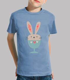 les  tee shirt s d'enfant lapin tasse (modèle 1)