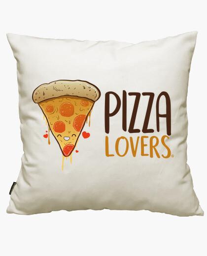 Housse de coussin les amateurs de pizza
