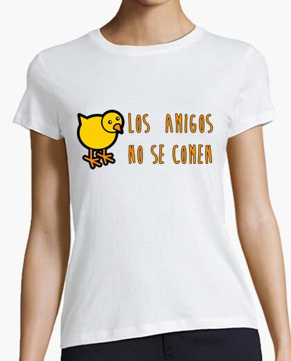 Tee-shirt les amis ne mangent pas!