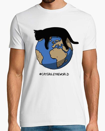 Tee-shirt les chats dominent le monde