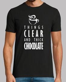 les fiche droite et chocolat épais