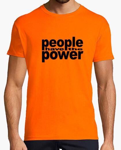 Tee-shirt Les gens ont le pouvoir noir