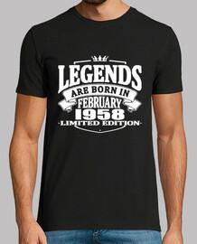 les légendes sont nées en février 1958