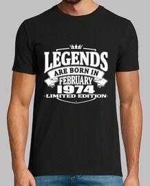 les légendes sont nées en février 1974