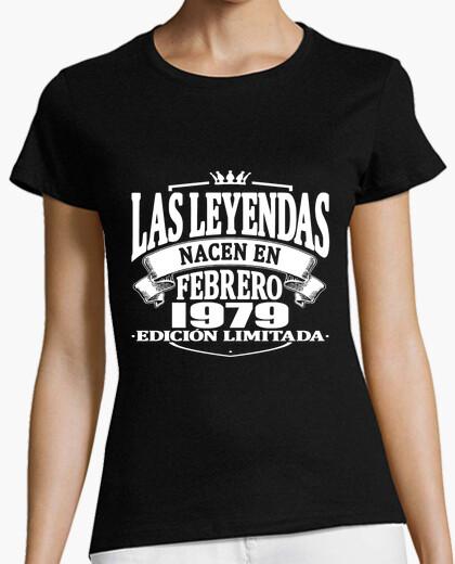 Tee-shirt les légendes sont nées en février 1979