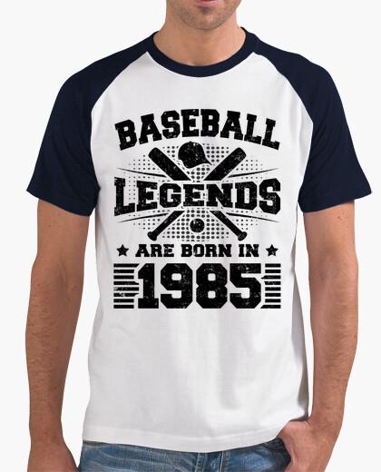 Tee-shirt les légendes du baseball naissent en 19