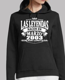 Les légendes naissent en mars 2003