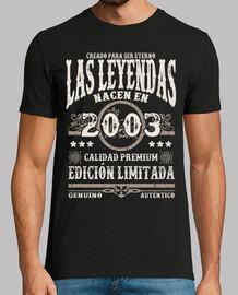 les légendes sont nées en 2003