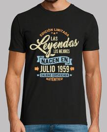 les légendes sont nées en juillet 1959