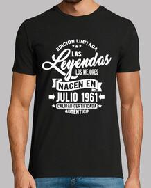 les légendes sont nées en juillet 1961