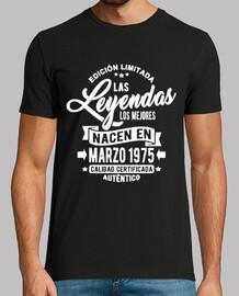 les légendes sont nées en mars 1975