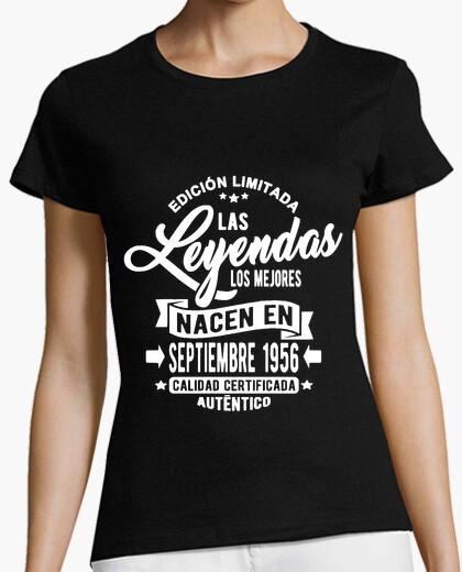 Tee-shirt les légendes sont nées en septembre 195
