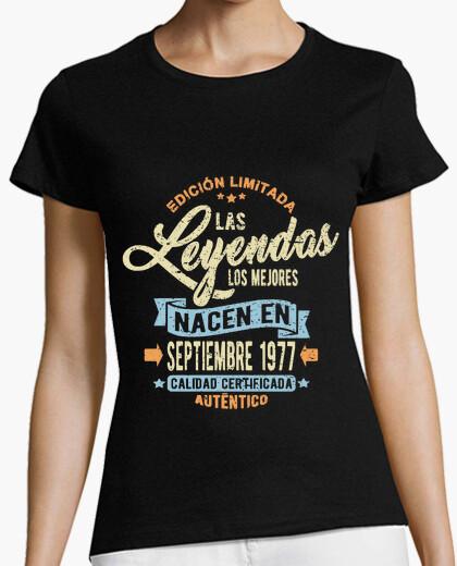 Tee-shirt les légendes sont nées en septembre 197