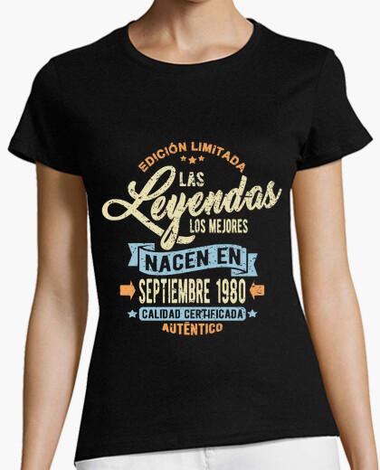 Tee-shirt les légendes sont nées en septembre 198