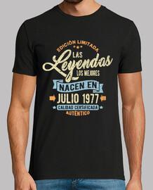 les légendes sont nés en juillet 1977