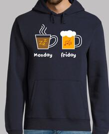 les lundi et les vendredi