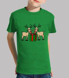 les meneses de rennes. enfant, manches courtes, vert
