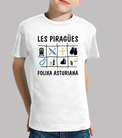 Les Piragües - Camiseta para niño de manga corta
