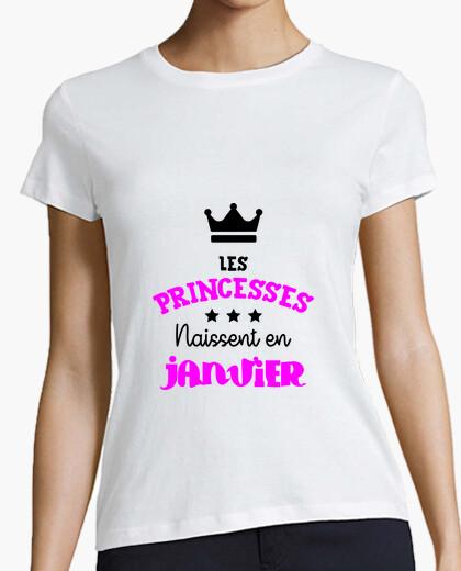 Tee Shirt Les Princesses Naissent En Janvier Bé Tostadora Fr