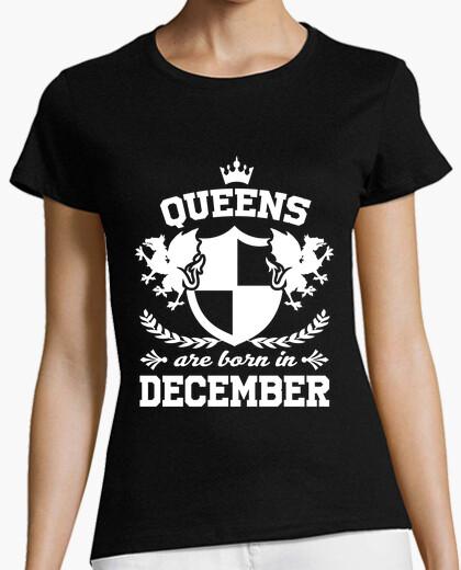 Tee-shirt les reines sont nées en décembre