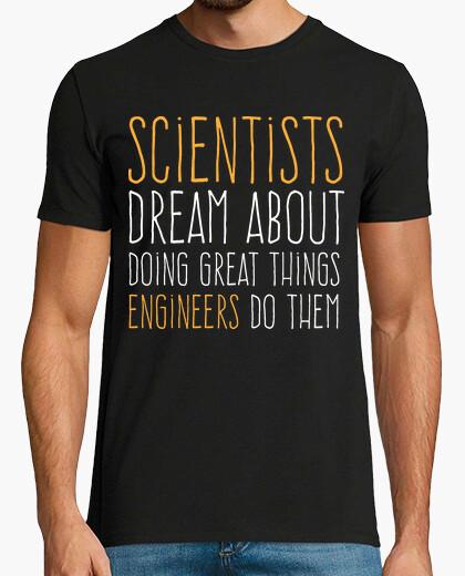 Tee-shirt les scientifiques vs ingénieurs