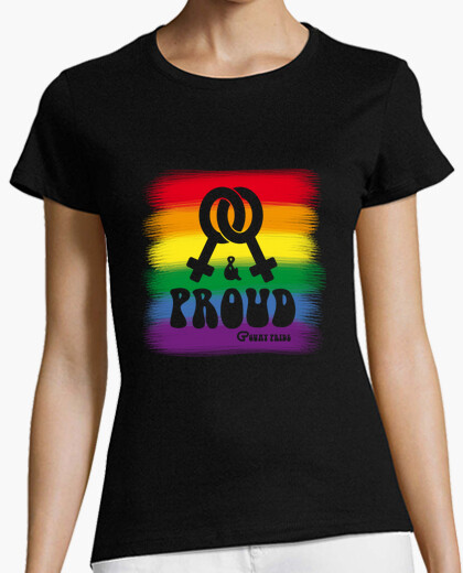 Camiseta Lesbian and Proud Flag