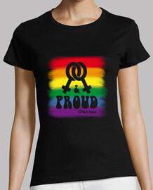 lesbian and proud flag
