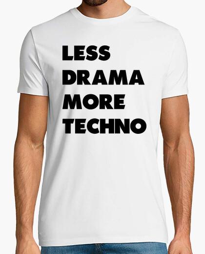 Camiseta LESS DRAMA MORE TECHNO NEGRO