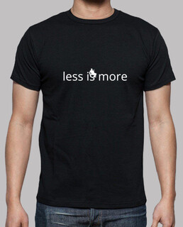 Less is more, said Mies van der Rohe.Black