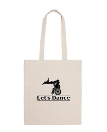 Let s Dance duo. Bolsa de tela