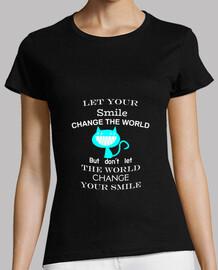 Let your smile chat bleu