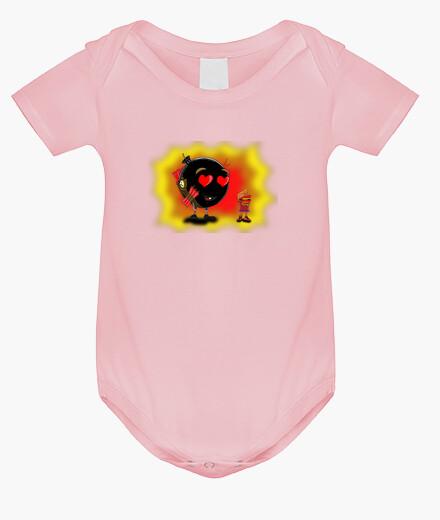 Vêtements enfant l'étincelle de l'amour avec un fond