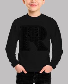 Letra R Vintage