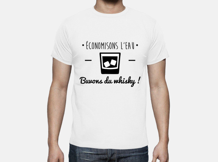 9b5a7d775 let's save water, drink whiskey! humor, alcohol, funny T-shirt - 1360290 |  Tostadora.co.uk
