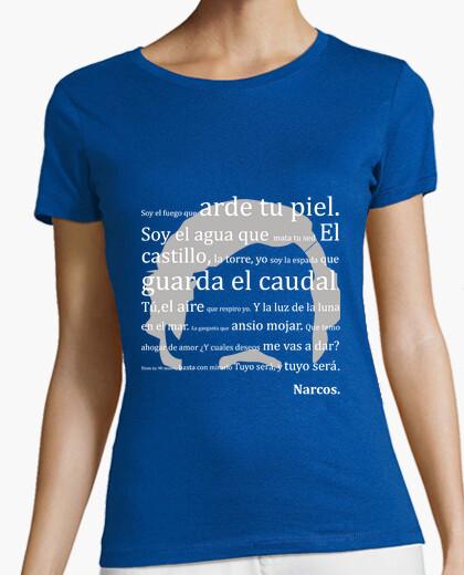 T-shirt lettera narcos