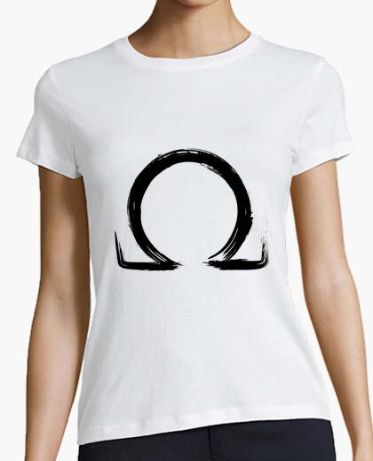 T-shirt lettera omega - black edition