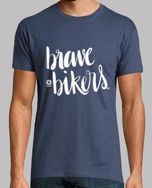 lettering brave bikers man